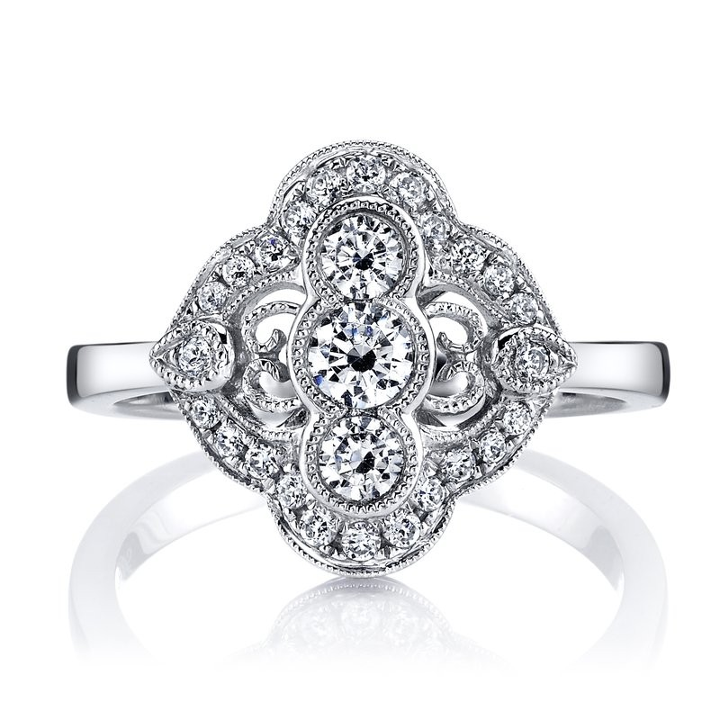 MARS 25348 Diamond Engagement Ring 0.56 Ctw.