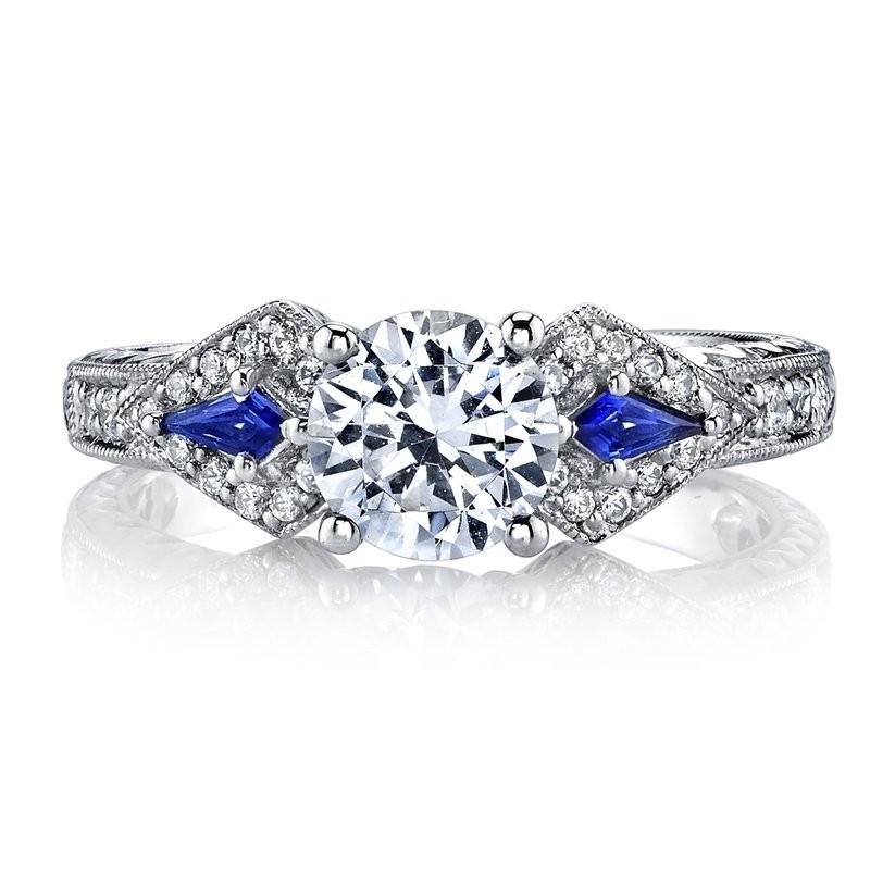 MARS 25774 Diamond Engagement Ring 0.18 Ct Dia, 0.15 ct Saph.