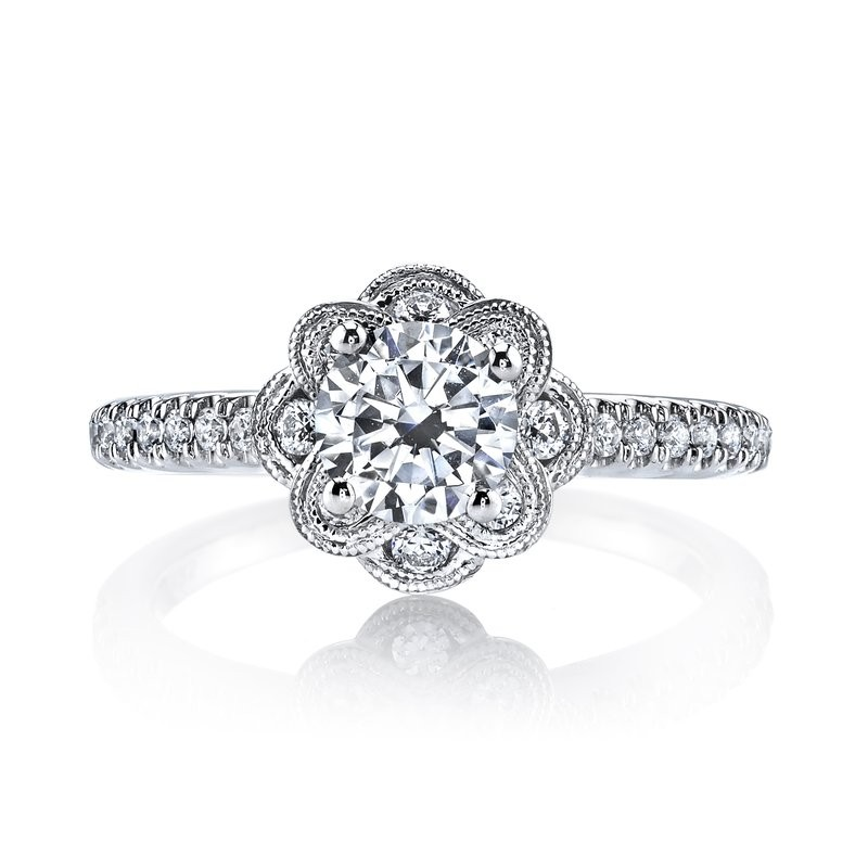MARS 25871 Diamond Engagement Ring 0.31 Ctw.