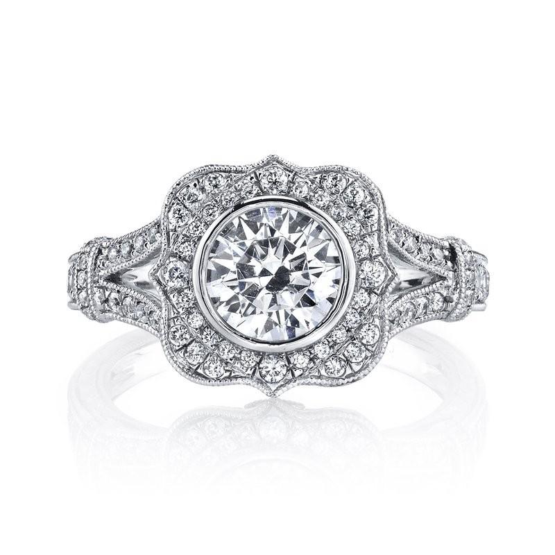 MARS 25938 Diamond Engagement Ring 0.46 Ct Dia, 0.10 Ct Saph.