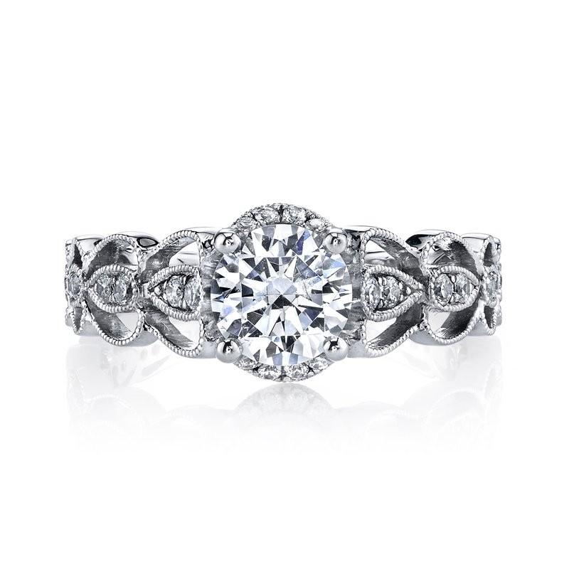 MARS 25987 Diamond Engagement Ring 0.28 Ctw.