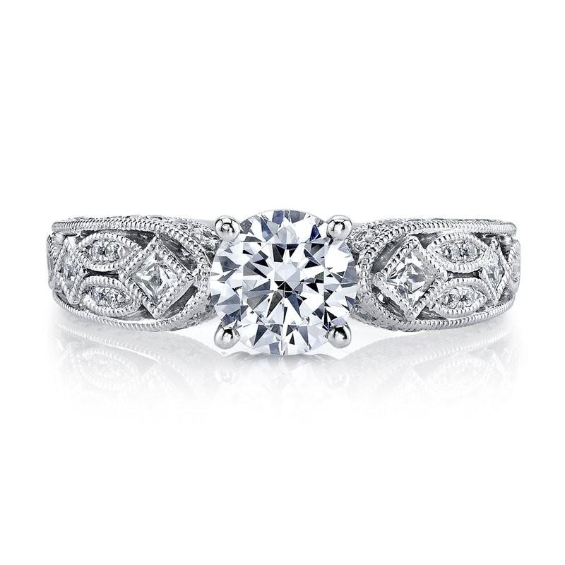 MARS 26177 Diamond Engagement Ring 0.14 Ct Pr, 0.42 Ct Rd.