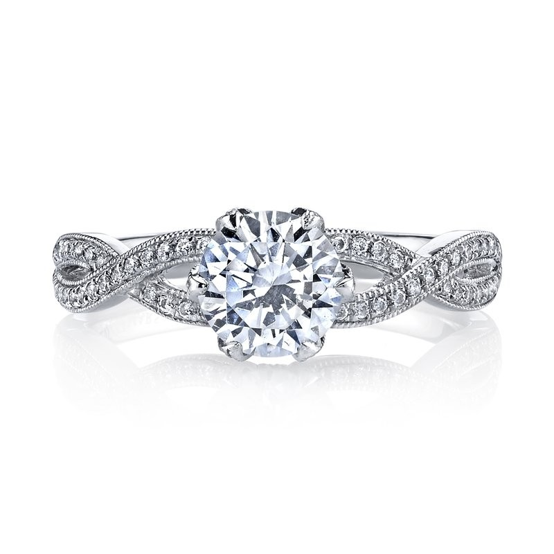 MARS 26215 Diamond Engagement Ring 0.21 Ctw.