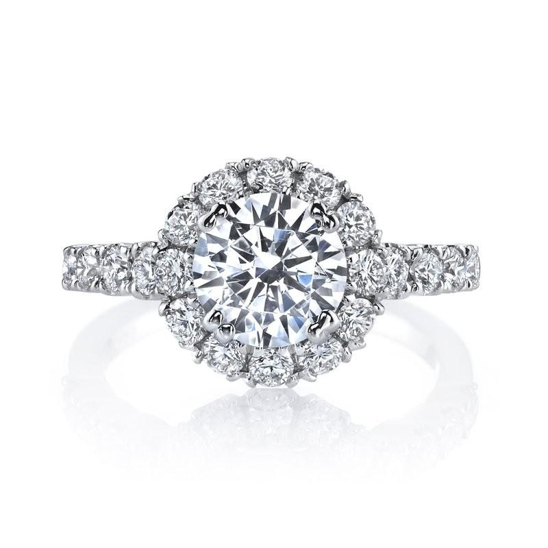 MARS 26494 Diamond Engagement Ring 0.93 Ctw.