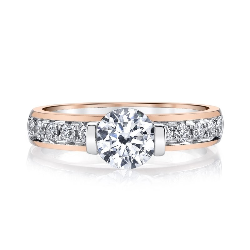 MARS 26517 Diamond Engagement Ring 0.37 Ctw.