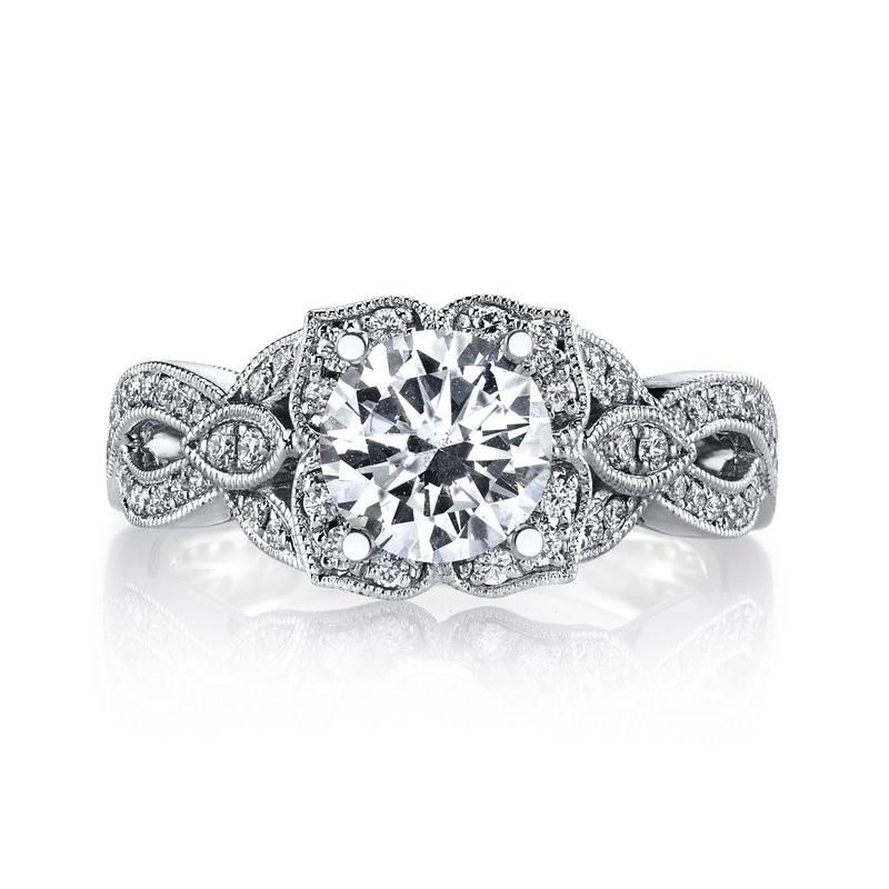 MARS 26592 Diamond Engagement Ring 0.44 Ctw.