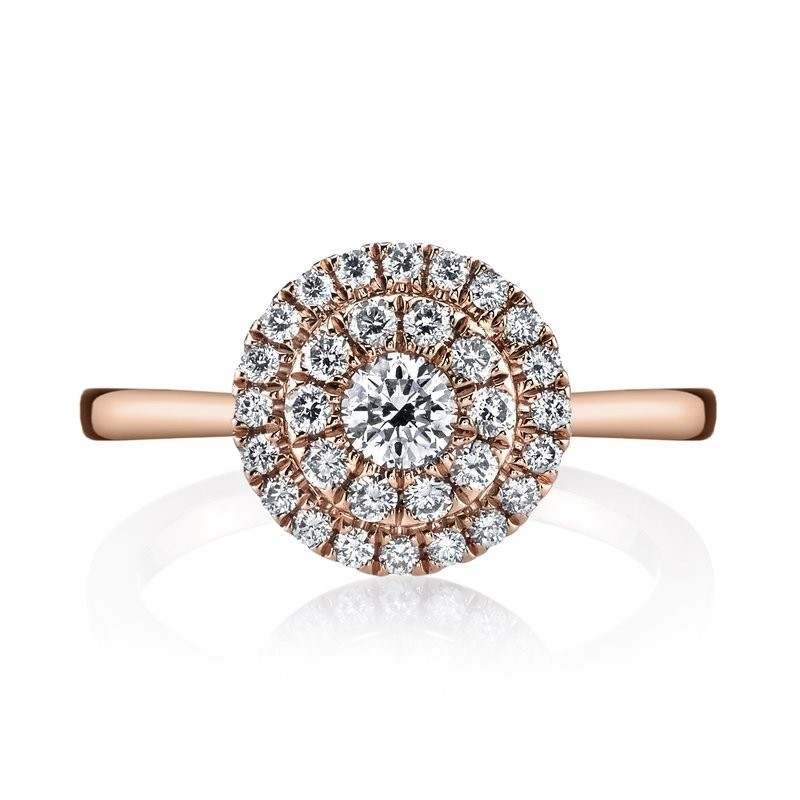 MARS 26633 Diamond Engagement Ring 0.53 Ctw.