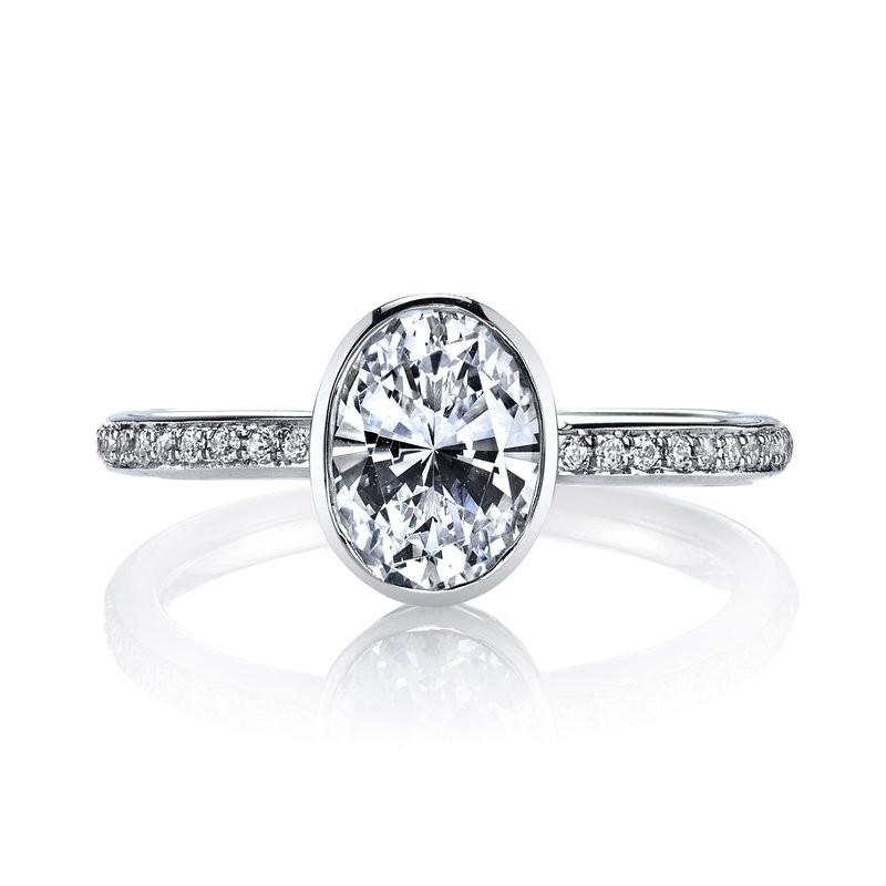 MARS 26703D Diamond Engagement Ring 0.12 Ctw.