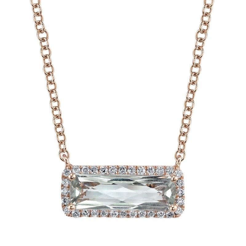 MARS Fashion Necklace, 0.15 Dia. 1.33 G Ameth.