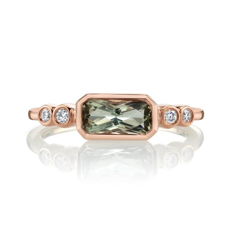 MARS Fashion Ring, 0.11 Dia. 0.78 Green Am.