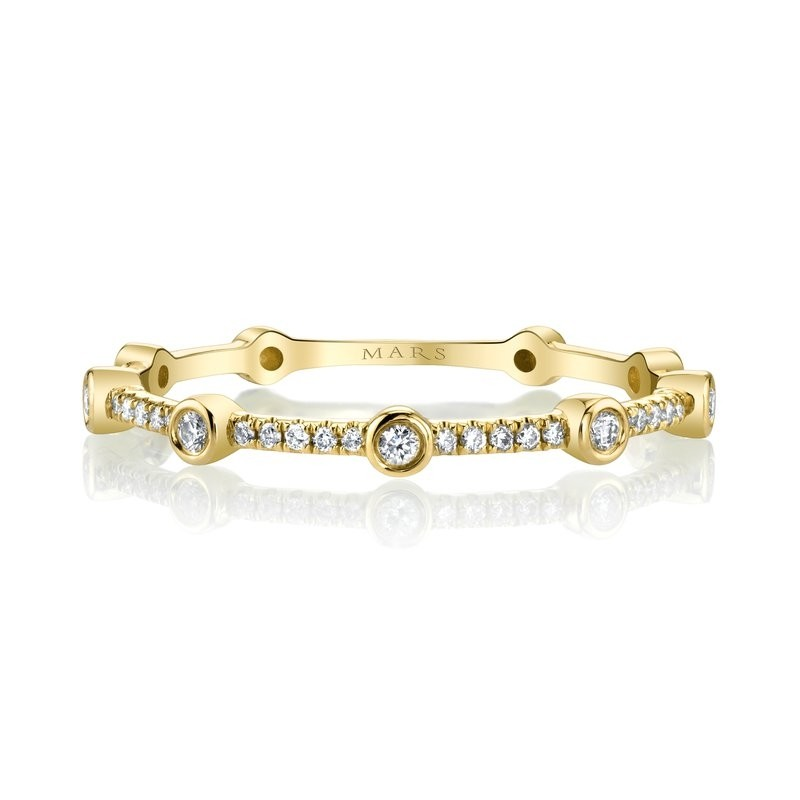 MARS Stackable Ring. 0.10 Ctw.