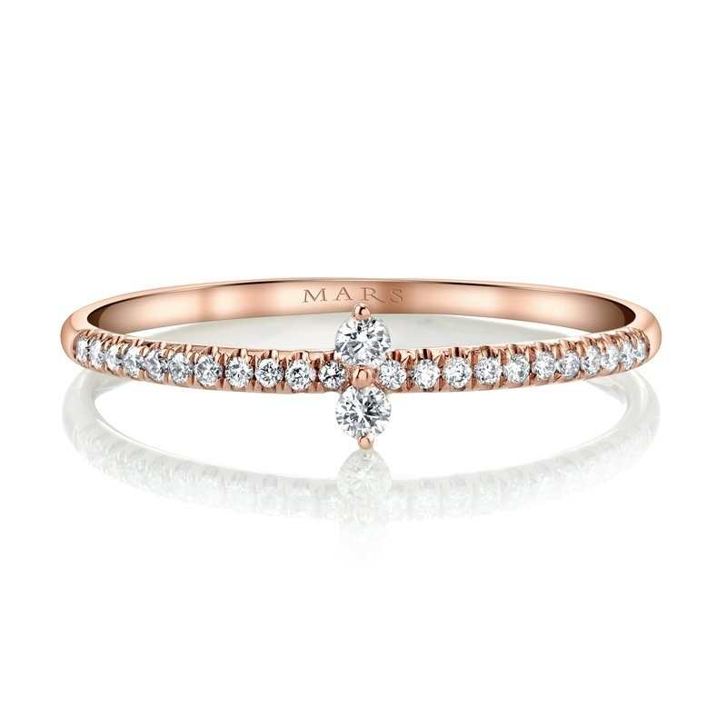 MARS Stackable Ring, 0.13 Ctw.
