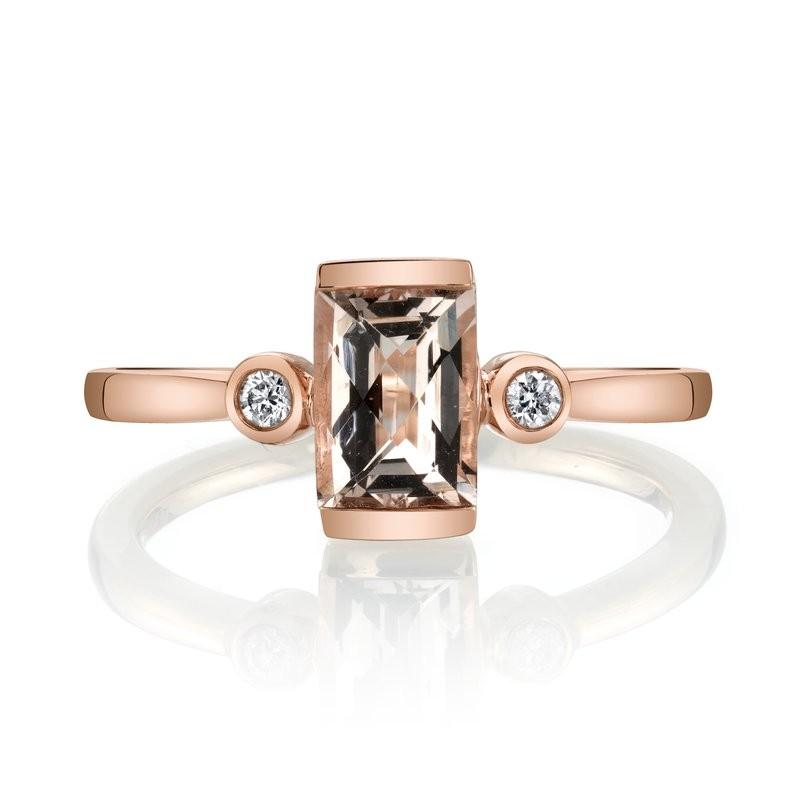 MARS Fashion Ring, 0.06 Dia., 0.72 Morganite