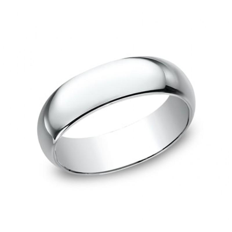 CLASSIC Mens White Gold Wedding Band 170W