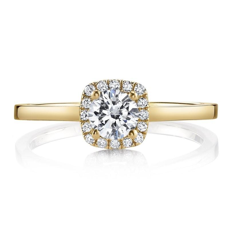 MARS 25150-R33-PS Diamond Engagement Ring 0.08 Ctw.