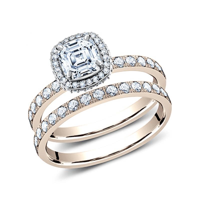 BENCHMARK Ladies Rose Gold Engagement Ring LCPA2-CSHSet-R