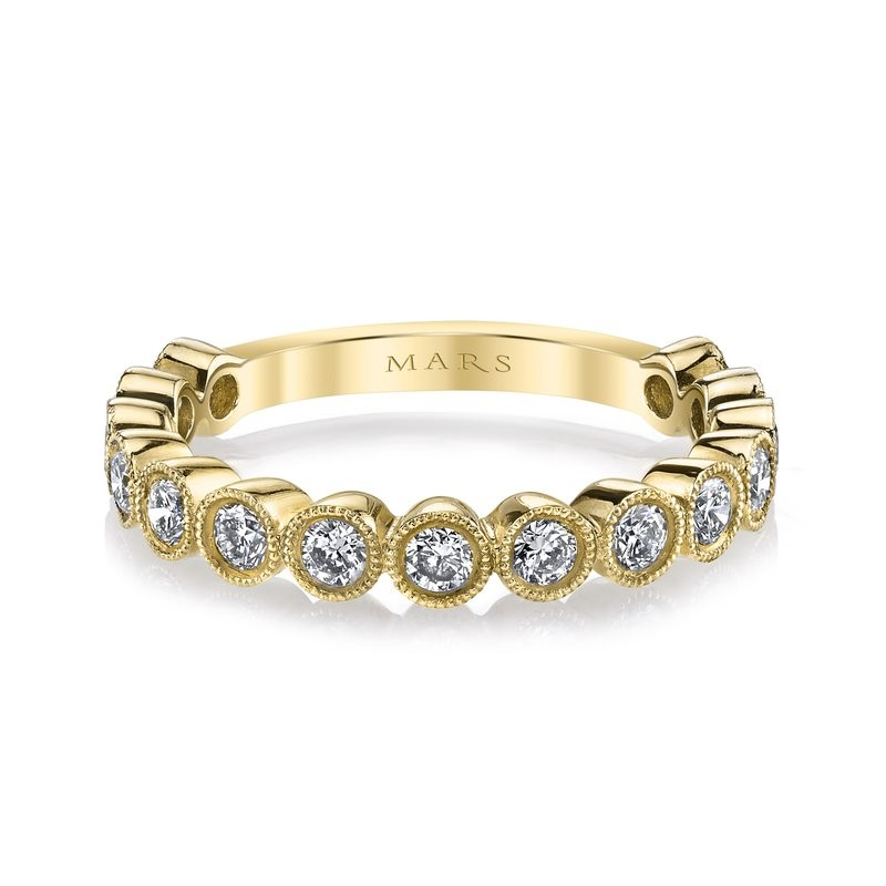 MARS Diamond Stackable Band, 0.77 Ctw.