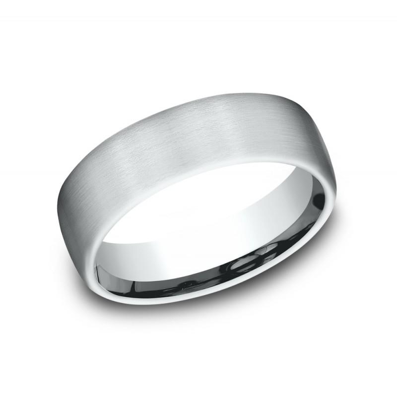 BENCHMARK Mens 14k White Gold Wedding Band CF716561W