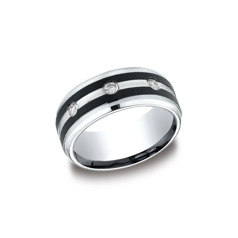 Forge Cobalt 9mm Diamond Band