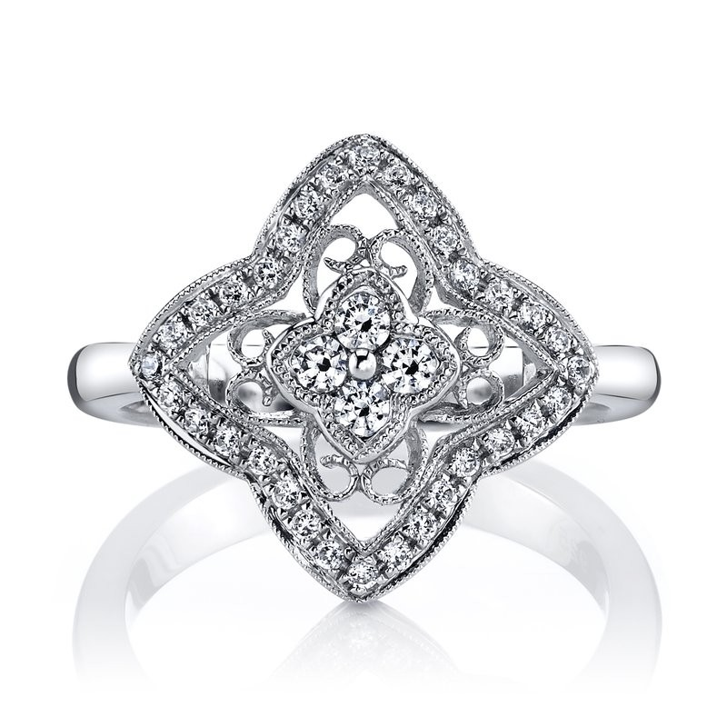 MARS 25347 Diamond Engagement Ring 0.37 Ctw.