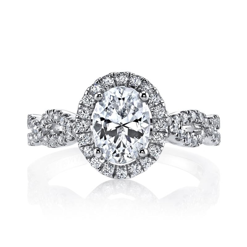 MARS 25366 Diamond Engagement Ring 0.48 Ctw.