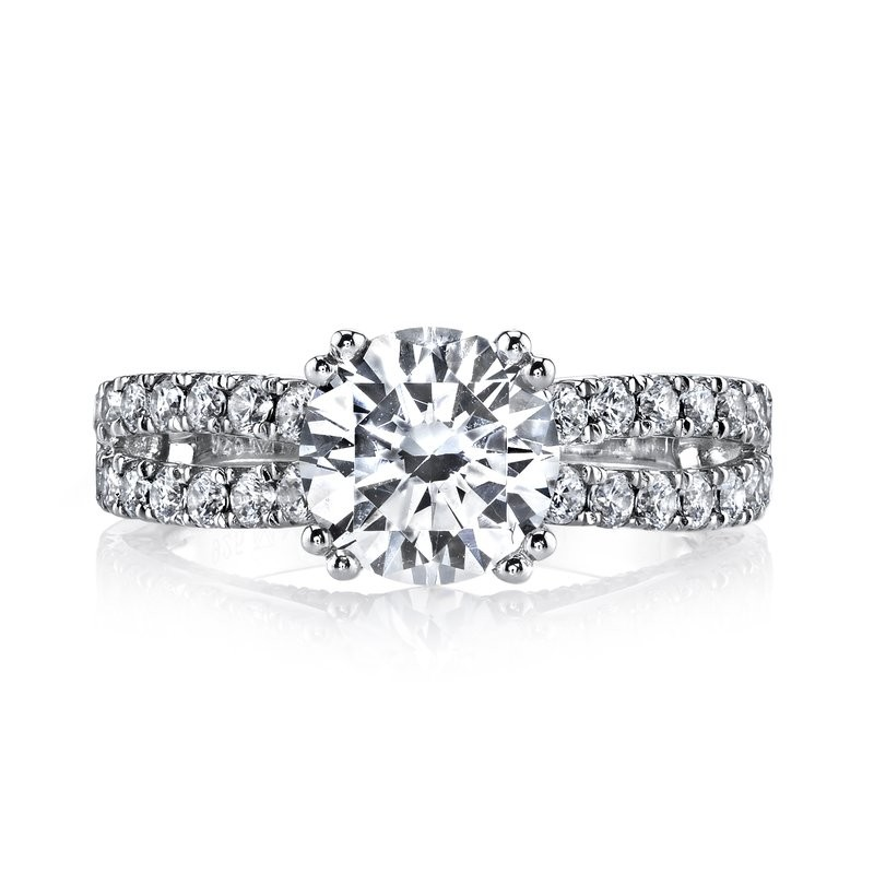 MARS Diamond Engagement Ring 0.87 Ctw.