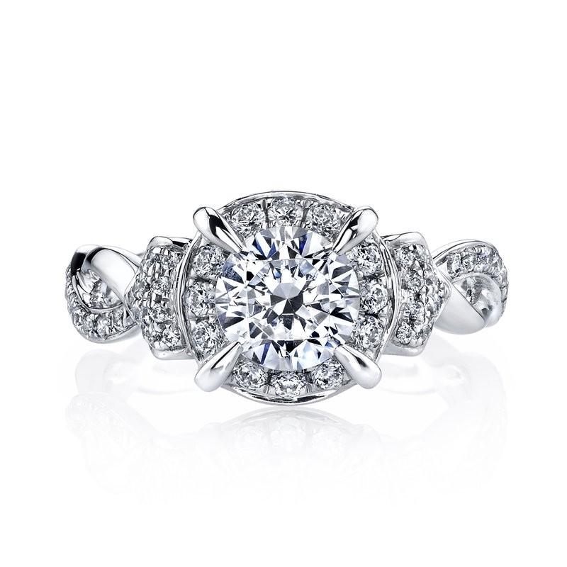 MARS 25948 Diamond Engagement Ring, 0.45 Ctw.