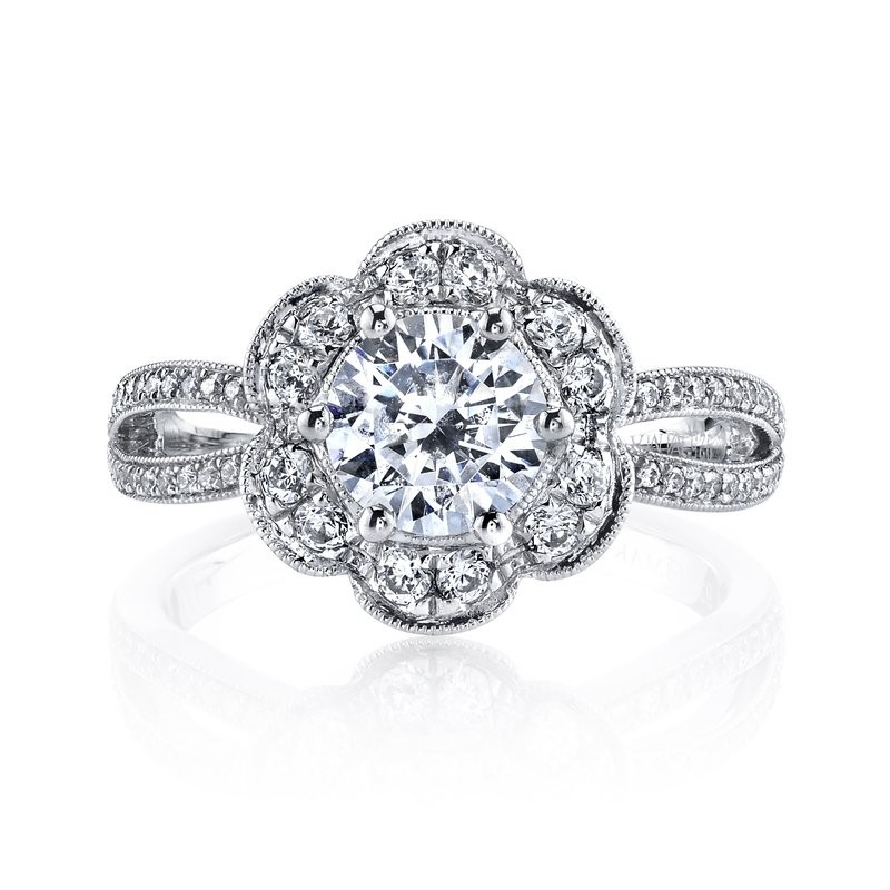 MARS 26214 Diamond Engagement Ring 0.44 Ctw.