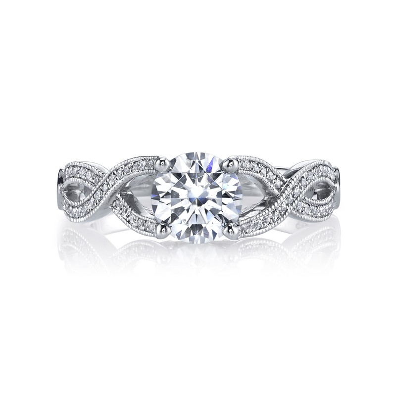 MARS 26248 Diamond Engagement Ring 0.15 Ctw.