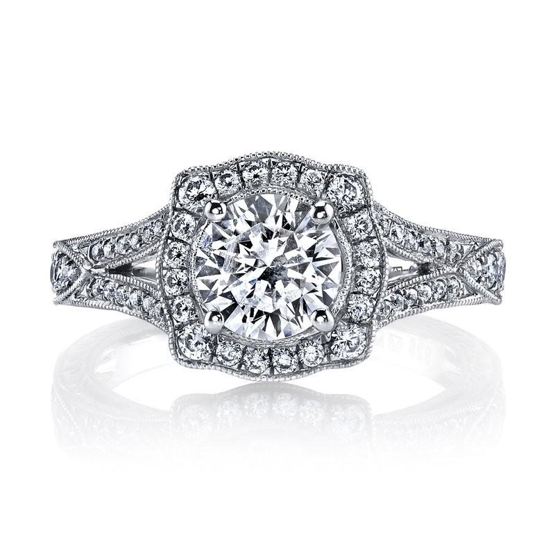 Diamond Sapphire Engagement Ring 0.51 ct Dia / 0.10 ct Sapphire