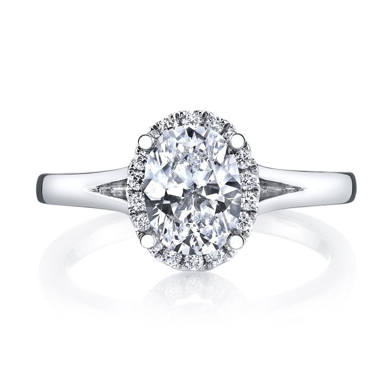 MARS 26513 Diamond Engagement Ring 0.13 Ctw.