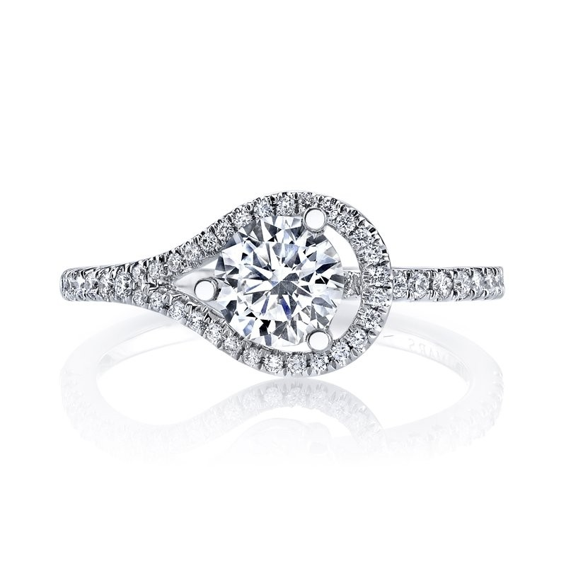 MARS 26531 Diamond Engagement Ring 0.21 Ctw.