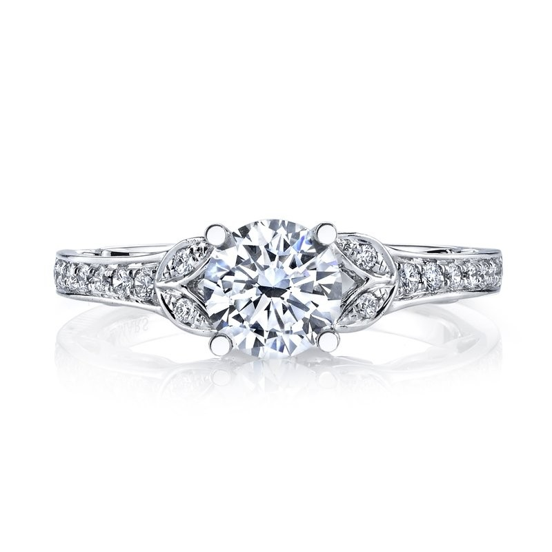 MARS 26547 Diamond Engagement Ring 0.13 Ctw.