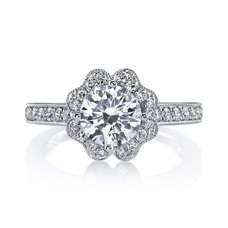 MARS 26549 Diamond Engagement Ring 0.58 Ctw.