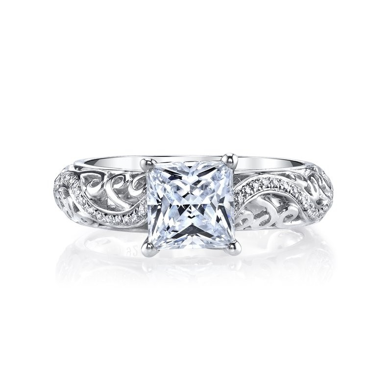 MARS 26561 Diamond Engagement Ring 0.18 Ctw.