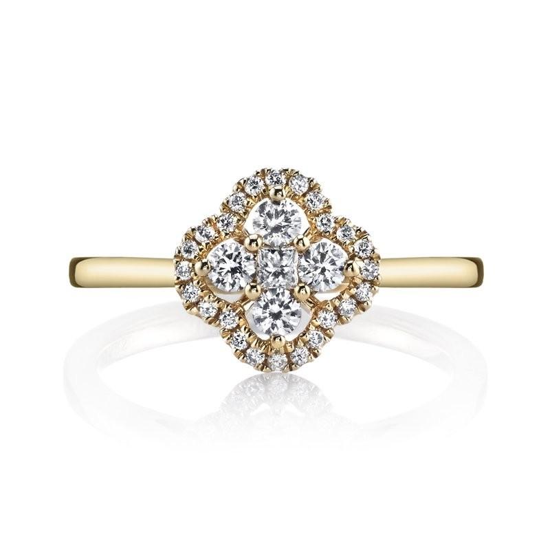 MARS 26630 Diamond Engagement Ring 0.31 Ctw.