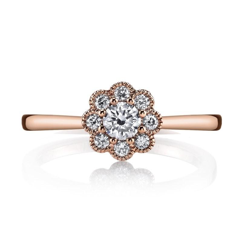 MARS 26634 Diamond Engagement Ring 0.37 Ctw.