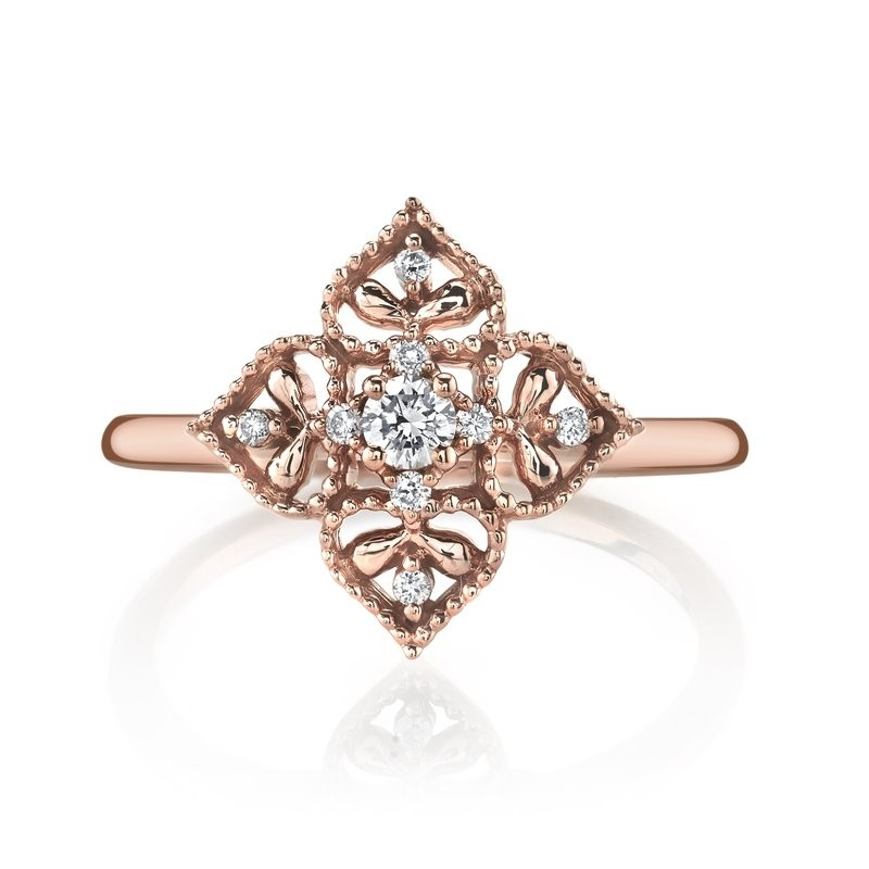 MARS Fashion Ring, 0.14 Ctw.
