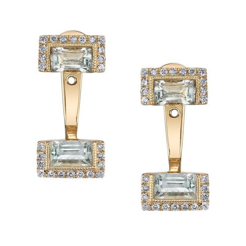 MARS Fashion Earrings, 0.25 Dia. 1.22 G Ameth.