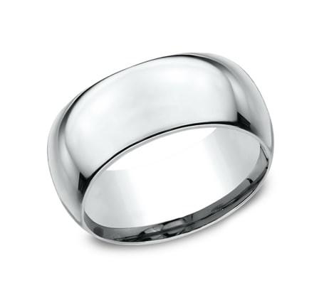 CLASSIC Mens White Gold Wedding Band HDCF1100W