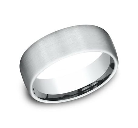 BENCHMARK Mens Platinum Wedding Band CF717561PT