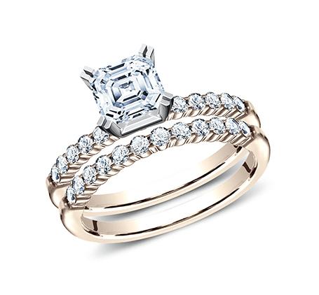 BENCHMARK Ladies Rose Gold Engagement Ring SPA2-SPLSet-R