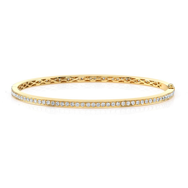 18k Diamond Bangle