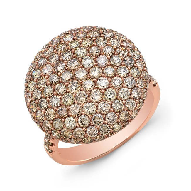 18k Pave Dome Diamond Cluster Ring