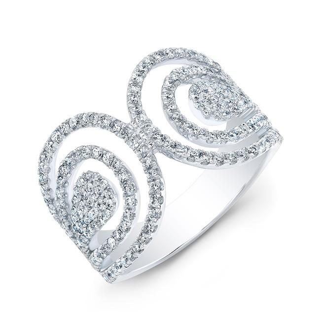 18k Diamond Parallel Wrap Around Statement Ring