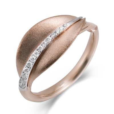 18K TWO TONE GOLD DR246-R RIGHT HAND RING