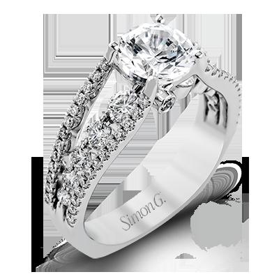 18K GOLD WHITE MR2248 ENGAGEMENT RING