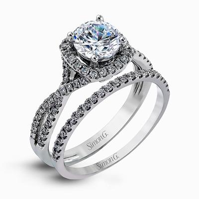 18K WHITE GOLD, WITH WHITE DIAMONDS. NR468 - WEDDING SET
