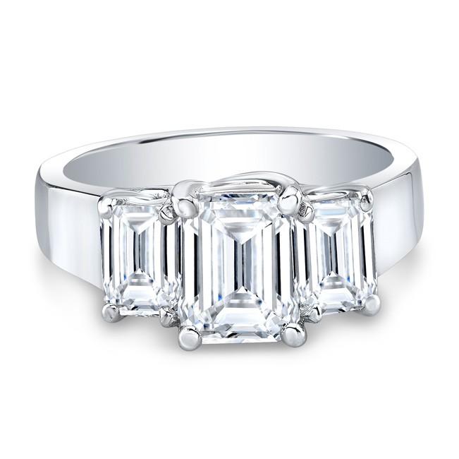3-Stone Emerald Ring