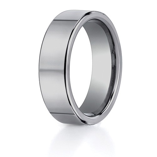 Benchmark 7mm Classic Flat Tungsten Carbide Ring